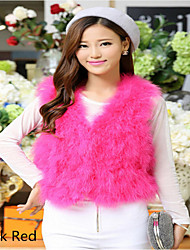 Turkey feather short sleeveless top cape vest vest fur coat