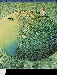 Small Fish House Animal/Landscape Canvas Print Giclee Print One Panel Matt Kraft Ready to Hang