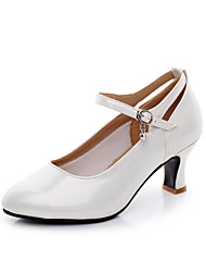 Customizable Women's Dance Shoes waltz  Customized Heel White/Silver