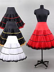 Slips Ball Gown Slip Knee-Length 3 Tulle Netting/Polyester/Lycra White/Black/Red