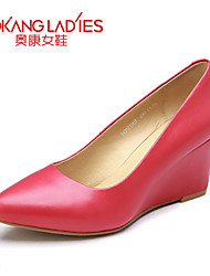 Aokang Women's Shoes Leather Stiletto Heel Heels/Comfort/Pointed Toe/Closed Toe Pumps/HeelsWedding