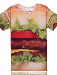 2015 Women's Summer High Quality Personality Leisure Pattern Cute Space Cotton 3D T-Shirt —— The Hamburger
