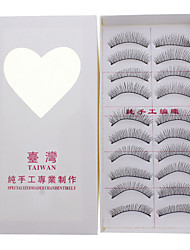 10 Pairs Soft Lengthening False Eyelashes