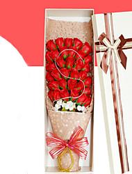 33pcs  Artificial Heart Favor Rose Body Bath Soap Flower Petal Party Gift Wedding Decoration