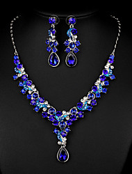 Sea Blue Multicolor Zircon Jewelry Set for Wedding Party