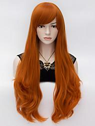 Elegant Long Wavy Hair Cosplay Wig  Heat Resist Synthetic Party hair Orange