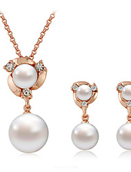 Pearl earrings necklace suits
