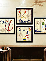 Drawning Room Frames Wood Frame with Canvas with Plastic Organic Glass 4Piece/set
