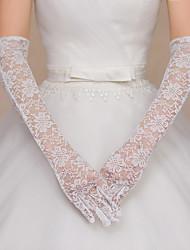 Opera Length Fingertips Glove Lace/Lycra Bridal Gloves/Party/ Evening Gloves