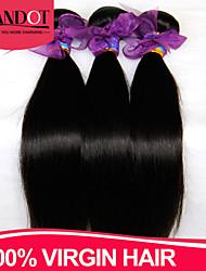 "3 Pcs Lot 8""-28"" Vietnamese Virgin Hair Straight Natural Black Human Hair Weave Bundles Tangle Free Soft Hair Extensions"
