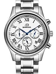 BINKADA Men's Waterproof Dial Steel Band Automatic Mechanical  Wrist Watch(Assorted Colors)