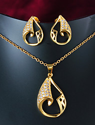2015 Hot Selling Products Casual Gold Plated Necklace Jewelry Sets Brand Jewelry Wholesale Price