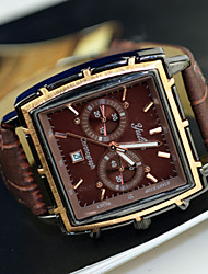 Men's Watch Dress Watch Calendar Rectangle Dial Wrist Watch Cool Watch Unique Watch Fashion Watch