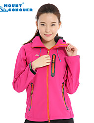 Mount Conquer® Women's Softshell Jacket 2015 Outdoor Jacket Hiking Jacket Windproof Thermal Camping Jacket