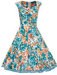 Dolce Women's Vintage/Sexy/Bodycon/Casual/Party 1950 Retro Dresses (Cotton Blend)