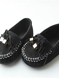 Baby Shoes - Casual - Mocassini - Di pelle - Nero / Rosso