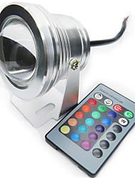 1 pezzo HRY 10 W 1 LED ad alta intesità 850-950 LM Colori primari Intensità regolabile/Controllo a distanza Luci subacquee DC 12 V