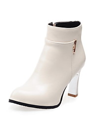 Women's Shoes Faux  Spool Heel Pointed Toe/Closed Toe Boots