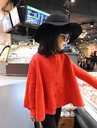 Kid's Round Neck Long-sleeved Sweater Jacket
