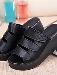 BKBG Women's Shoes Black/Grey/White Wedge Heel 6-9cm Sandals (Leather)❤ Once you fall in love ❤