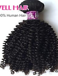"""1 PC / Los 12 """"-26"""" malaysisch verworrene lockige Schüssen natürliche schwarze 1b # menschliches Haar lockig Bündel verwirren frei"""