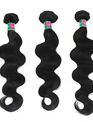 """3pcs / lot 300g economici estensioni dei capelli vergini brasiliani 1b dei capelli dell'onda dell'ente nero tessere 8 """"-30"""" groviglio"""