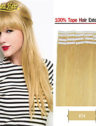 Best Remy Indian Virgin Hair Tape Weft 100% PU Glue Skin Hair Extensions Straight 100s 8a Best Selling