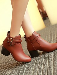 Women's Shoes Black/Red/Yellow Chunky Heel 3-6cm Boots (PU)
