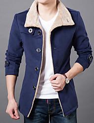 The Explosion Of New Korean Winter Men's Windbreaker Slim Plus Velvet Men Winter Coat Jacket