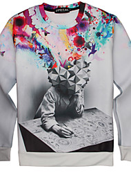Women's High Quality Creative Lovely Pattern Stereo Fashion Personality 3D Sweater——Meditator