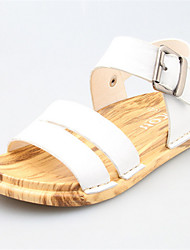 Girls' Shoes Casual Open Toe Leather Sandals Blue/White/Orange
