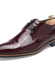 Sapatos Masculinos Oxfords Preto / Azul / Branco / Vinho Couro Envernizado Casual