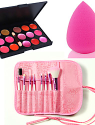 15 Lip Gloss + Makeup Brushes Dry Lips China