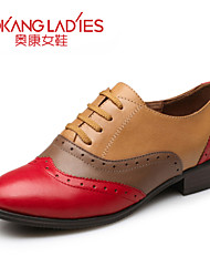 Aokang Women's Shoes Leather Low Heel Comfort/Round Toe/Closed Toe Fashion Sneakers Outdoor/Office & Career