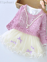 Big Elephant 2pcs Baby Girls Clothes Kids Party Flower Dress Tops Sets Outfits For 0-3Y D64 Purple