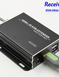 120M HDMI KVM IR Remote Extender Over IP/LAN/ CAT5e/6 (Receiver), KVM-HE101-RX