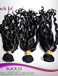 """3 pcs lote 12 """"-30"""" espiral brasileira enrolar o cabelo virgem tramas do cabelo humano natural preto tece emaranhado livre"""