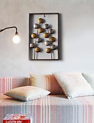 e-FOYER mur d'art de mur en métal décor, motif circulaire mur décor un pcs