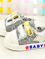 Baby Shoes - Casual - Sneakers alla moda - Tessuto - Argento