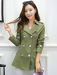 Women's Button Coats & Jackets , Cotton Casual Long Sleeve B.L.S