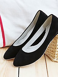 Women's Shoes Wedge Heel Pointed Toe Heels Casual Black / Blue / Yellow / Gray