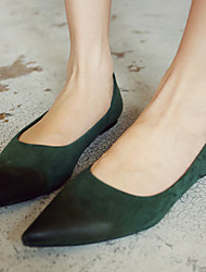 Women's Shoes Suede Flat Heel Pointed Toe Flats Casual Black/Green/Gray
