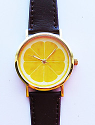 Lemon Slice Fruit Watch  Leather Watch Women Watches Unisex Watch Boyfriend Watch Men'S Watch Ladies Watch