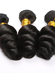 3PCS/Lot Brazilian Virgin Hair Loose Curly Wave Weft Indian pervuian Hair weaving 3 Lot Remy 8A Grade Human Extension