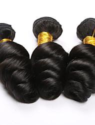 3pcs / cabelo muito cabelo brasileiro remy humanos hiar onda solta extensões de cabelo natural 3pcs cor preta de transporte muito livre