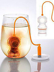 Deep Tea Diver Tea Infuser - Cute Scuba Diving Loose Leaf Silicone Mug Cup Strainer Filter(Random Color)