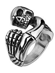 Ringe Ohne Stein Halloween / Hochzeit / Party / Alltag / Normal / Sport Schmuck Stahl Herren Ring 1 Stück,8 / 9 / 10 Silber