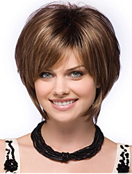 Women lady Short Straight Synthetic Hair Wigs Hot Sale