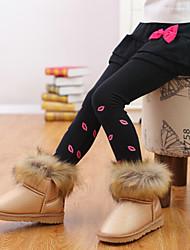 Girl'S  Cotton Leggings Bottoming Bow Skirt