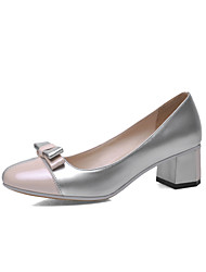 Women's Shoes Patent Chunky Heel/Comfort/Round Toe Loafers Outdoor/Dress/Casual Black/Pink